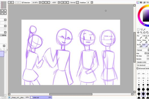 {WIP} the OTHER 4 girls by Daisy6754