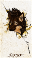 .:Papercut:. by WhiteSpiritWolf