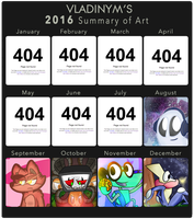 .:2016 Art Summary:. by Vladinym