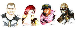 Borderlands Character Portraits by Skinrarb