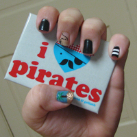 Pirate Nails 1 by KookylmhNails