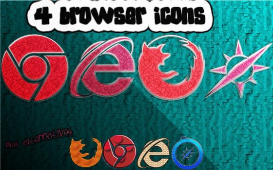 Girly Browser Icons by sammi879
