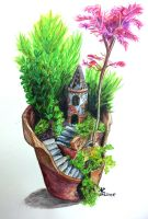 Flowerpot to the fairy tale by AnMaInKa