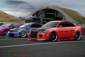 audi rs4 vs bmw m3 and eclipse by mateus12345