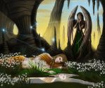Hellenic Mythology - Echo and Narcissus by EmanuellaKozas