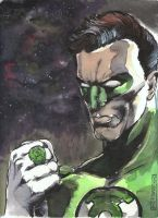 Green Lantern Watercolor 01 by whatwouldjoshdo