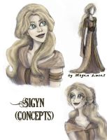 Sigyn: Character and Costume Concepts by MademoiselleMeg