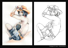 Portgas D. Ace. One piece by HosomiAme