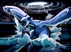 Lugia has awakened by Lopoddity
