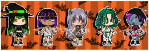 Halloween adoptables - Open 2/5 by Pixie-van-Winkle