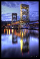 Keweenaw Lift Bridge HDR by DaishiMkV