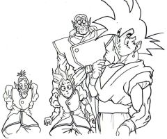 dbz crew 6 lineart by trunks24