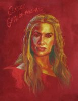Cersei Lannister Portrait - Game of Thrones by Sillustrations