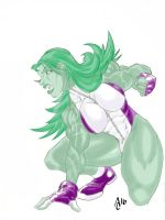 She Hulk smash (colors) by vagrantmidget