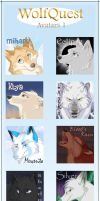 WolfQuest Avatars by nooby-banana
