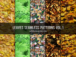 Leaves Seamless Patterns Vol. 1 by xara24