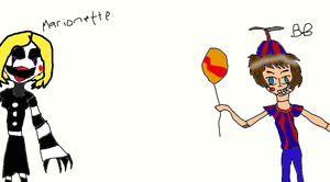 1.5 Marionette and Balloon Boy by TheUltimateSpiderFan