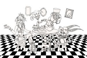 Steampunk Tea Party Lines by karla-chan