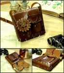 Steampunk Leather Pouch IV by izasartshop