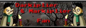Darkiplier and Markiplier Fan Button by SteffieNeko