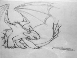 Toothless Sketch by Znapple