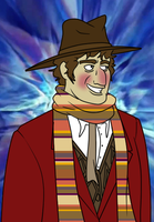 Fourth Doctor Tom Baker by TateShaw