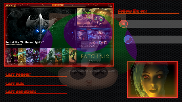 Black And Red Client Overlay by Nekoverlay