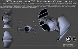 Inquisitor's TIE Advanced V1 ortho [1][Update] by unusualsuspex