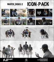 Watch Dogs 2 - Massive Icon-Pack by Crussong