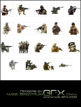 Real Life Soldier Render Pack by intelnode