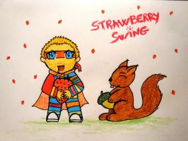 Chris in the strawberry swing by TearsOfStarryDream