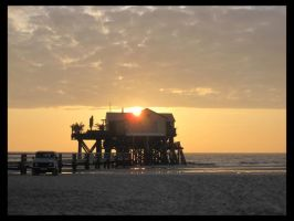 Sankt Peter Ording - Sunset by Pattarchus