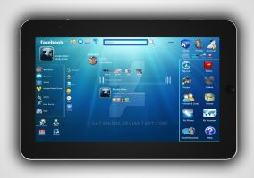 Facebook Profile on a Tablet by Satanubis