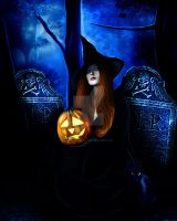 Samhain Witch by KerriAnnCrau