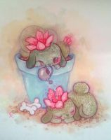 Cactus Pups by lindsaycampbell
