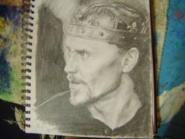 Henry V Graphite drawing by AmoraLicious