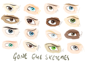 GONE eye sketches by Moozy6