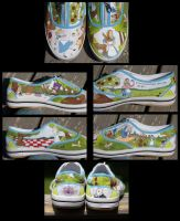 Alice in Wonderland Shoes by Irise