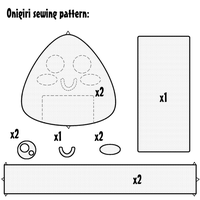 Onigiri sewing pattern by NekoPandaPlushies