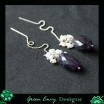 Amethysts earstrings by green-envy-designs