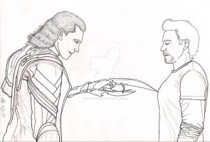Loki and Tony Ink by lilly-b-deadly