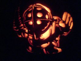 Bioshock Big Daddy Pumpkin by CousticHippy