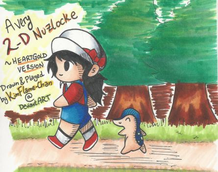 2-D Nuzlocke HG Run-- Cover Page by KimFlame-chan
