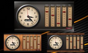Vintage Power Clock HD for xwidget by jimking