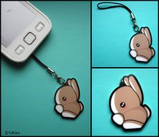 Bunny acrylic charm for cell phone by o-YuRiko-o