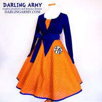Vintage Inspired Goku Tea Length Cosplay Skirt by DarlingArmy