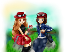 Pokemon X /Y Trainers by LittleOcean