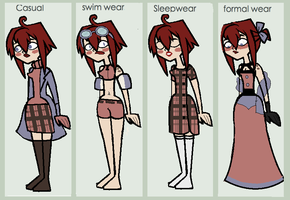 Zoe reference sheet by Slaveofcartoons
