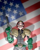 Retro Dredd by TomBerryArtist