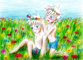 Flower boys by UnknownSoulCollector